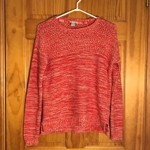 Forever 21 Coral Knit Sweater